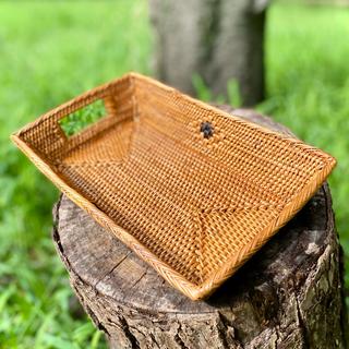 バリ島 トレー 新品未使用 小物入れ アタ製かご テーブル用品 バスケット