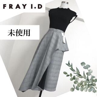 フレイアイディー(FRAY I.D)の未使用FRAY I.Dフレイ アイディーのアシメペプラムスカート (ひざ丈スカート)