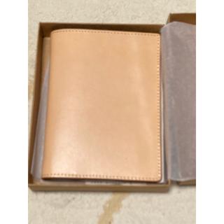 ムジルシリョウヒン(MUJI (無印良品))のMUJI 無印良品 イタリア産ヌメ革 パスポートケース(名刺入れ/定期入れ)