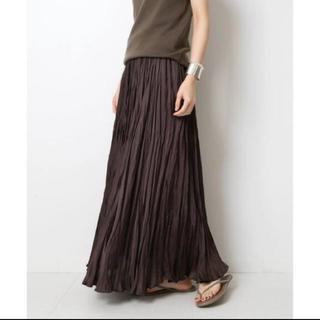 ドゥーズィエムクラス(DEUXIEME CLASSE)の新品タグ付き プリーツロングスカート ブラウン(ロングスカート)