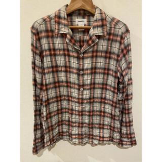 クアドロ(QUADRO)の80%オフ⭐️クオドロプルオーバーチェック洗い加工シャツ 被りタイプ(シャツ)