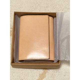 MUJI (無印良品) - MUJI 無印良品 イタリア産ヌメ革 三つ折り財布