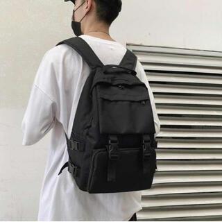 ★新品・未使用★男女兼用 大容量 リュック 韓国 マザーズバッグ シンプル(バッグパック/リュック)