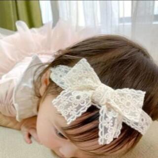 髪飾り 女の子 2つセット リボン レース 記念 お誕生日 ヘアピン ヘアバンド