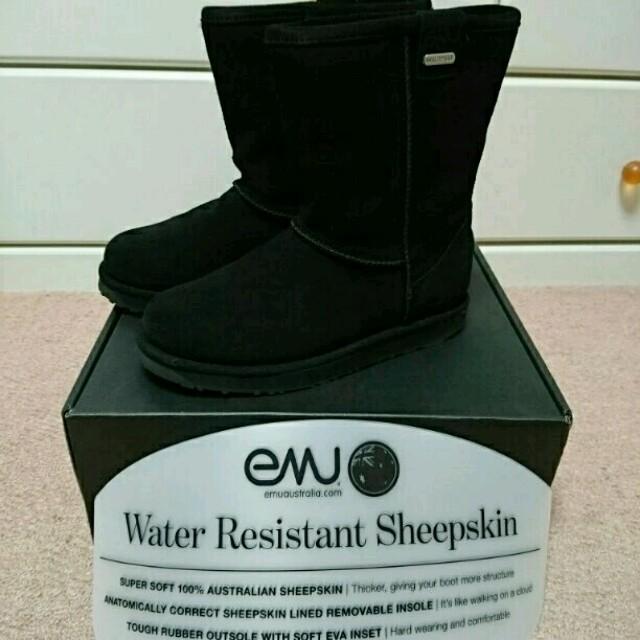 EMU(エミュー)の【お値下げ】emu Sheepskin ブラック レディースの靴/シューズ(ブーツ)の商品写真