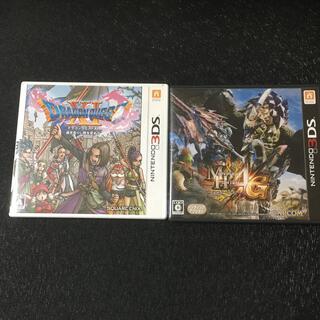ニンテンドウ(任天堂)のニンテンドー 3DS ソフト ドラクエ11 モンハン4G 2個セット(携帯用ゲームソフト)