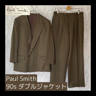 ポールスミス(Paul Smith)の【希少】Paul Smith ポールスミス ダブル セットアップ スーツ カーキ(セットアップ)