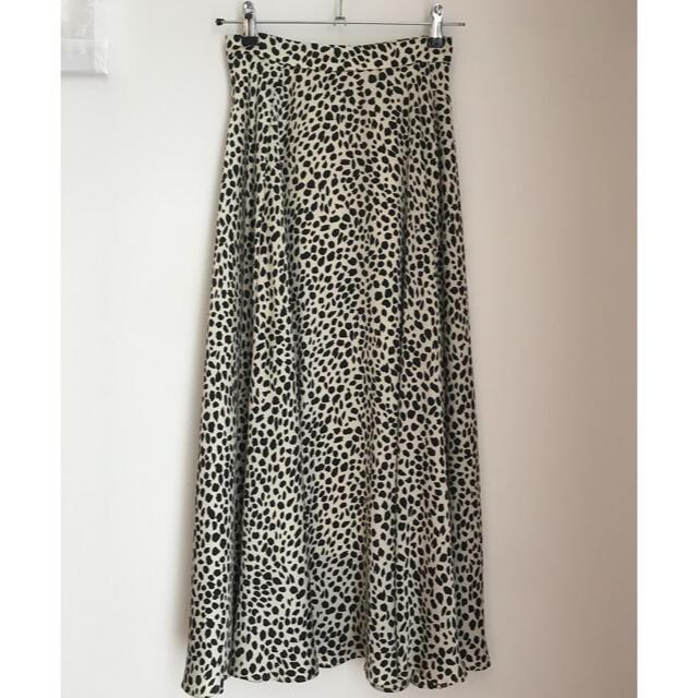 UNITED ARROWS(ユナイテッドアローズ)のUNITED ARROWS UWSC レオパード柄 フレアスカート 36 レディースのスカート(ロングスカート)の商品写真