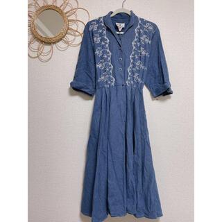 ロキエ(Lochie)のUSA vintage denim embroidery one-piece(ロングワンピース/マキシワンピース)