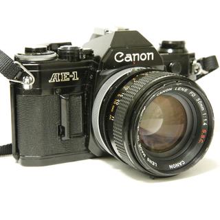【実用品】美品CANON AE-1 + 美品FD50mm F1.4 S.S.C