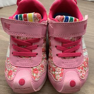 New Balance - IFME イフミー キッズスニーカー 女の子 花柄ス 15cm ピンク 美品