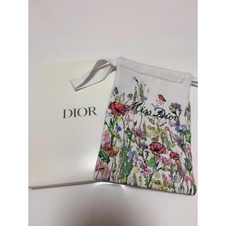 Dior - 【新品】Dior ミス ディオール 花柄 巾着 コットン ポーチ 箱付き 限定品