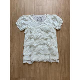 ジーナシス(JEANASIS)の【新品未使用】JEANASIS フリルトップス Tシャツ(Tシャツ(半袖/袖なし))