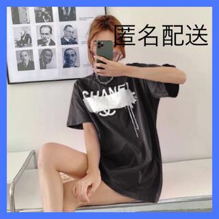ロゴTシャツ デザインTシャツ 韓国ファッション ロンT 半袖 d07(Tシャツ(半袖/袖なし))