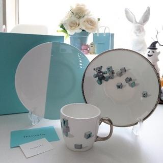 Tiffany & Co. - ティファニー ベビー食器 ベア&ブロック 3ピースセット