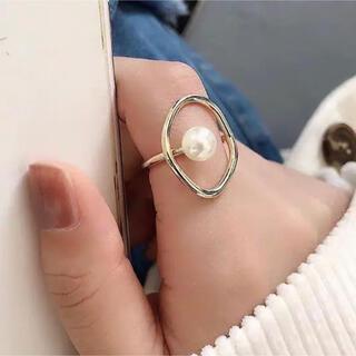 エイミーイストワール(eimy istoire)の【再入荷】新品インポート♡ゴールド パール リング 指輪(リング(指輪))
