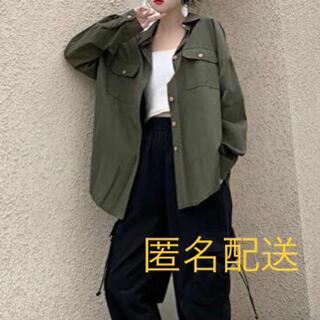 ミリタリーシャツ 羽織りもの アウター レディース I32(シャツ/ブラウス(長袖/七分))