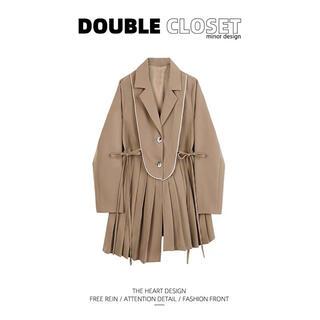 snidel - DOUBLE closet ショートフリルコート 中国新鋭ブランド