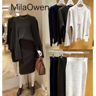Mila Owen - Mila owen ミラオーウェン  リブニットセットアップ トップス スカート