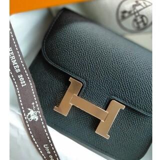 Hermes - 希少!HERMES エルメス コンスタンス スリム 黒×ピンクゴールド 新品