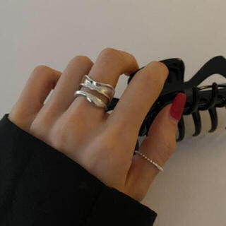 アメリヴィンテージ(Ameri VINTAGE)の156◇オシャレ デザイン シルバー リング 2点set silver925(リング(指輪))