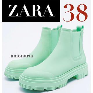ザラ(ZARA)の【新品/未着用】ZARA カラーラバーアンクルブーツ ラバーブーツ レインブーツ(ブーツ)