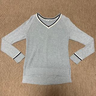 UNIQLO ライン入りセーター(ニット/セーター)
