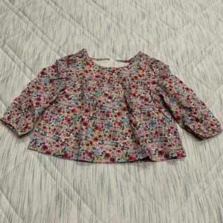 ベビーギャップ(babyGAP)のbabyGAP 花柄長袖 80(シャツ/カットソー)