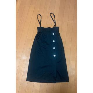 トッコ(tocco)のtocco closet サスペンダー付きスカート(ひざ丈スカート)