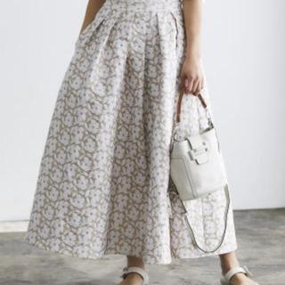Drawer - セブンテンバイミホカワヒト フラワージャガードスカート サイズS