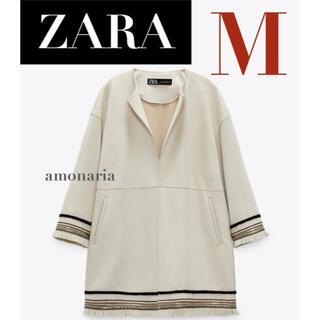 ザラ(ZARA)の【新品/未着用】ZARA コントラストフェイクスエードジャケット スエードコート(ノーカラージャケット)