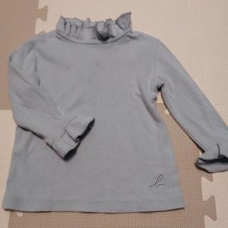 アニエスベー(agnes b.)のアニエスベー 2T ブルーグレー ハイネック 長袖トップス(Tシャツ/カットソー)