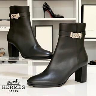 エルメス(Hermes)の3195 エルメス サンジェルマン ケリー レザー ショートブーツ ブラック(ブーツ)