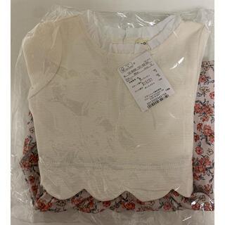 ブランシェス(Branshes)の【新品未開封】花柄ドッキングシャツ 90(ワンピース)