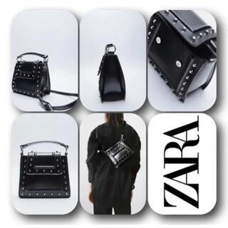 ZARA - ZARAスタッズミニシティバッグ ZARAバッグ