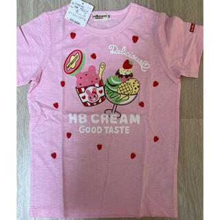 フィフス(fifth)の新品タグ付き ミキハウス 120 ピンク アイスクリームキャビット 半袖Tシャツ(Tシャツ/カットソー)
