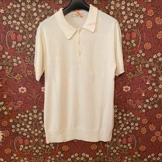 【INHERIT】ニットポロシャツ Lサイズ
