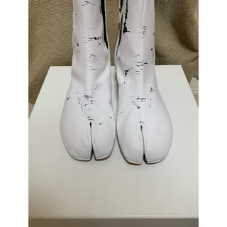 Maison Martin Margiela - maison margiela 白ペンキ足袋ブーツ 35