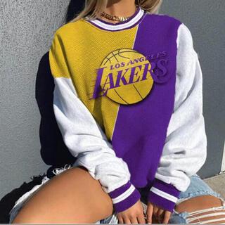 Champion - 新品 NBA LAKERS オーバーサイズ BIGトレーナー ヴィンテージ古着