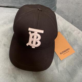 BURBERRY - 新品☆バーバリーBURBERRYキャップ 立体刺繍ブラック