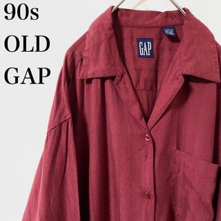 ギャップ(GAP)の★希少 90s OLD GAP レーヨン シャツ オープンカラー 開襟 総柄(シャツ)