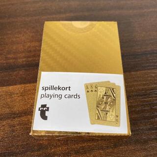 カード トランプ spillekort playingcards ゴールド 新品(トランプ/UNO)