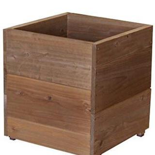 プランター ボックス スクエア ふた付 大型 woodpro ウッドプロ(プランター)