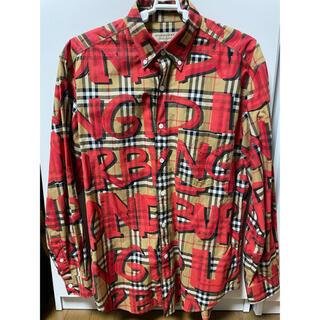 BURBERRY - Burberry グラフィティー ノバチェックシャツ 18ss