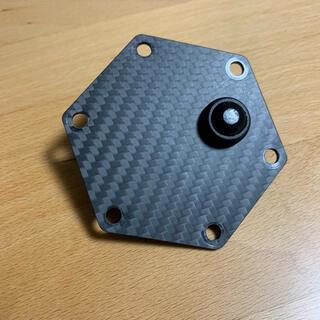 ドライカーボン製 ホーンボタン 綾織り カーボン 六角形 ブラック(車内アクセサリ)