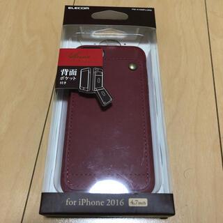 ELECOM - iPhoneケース 背面ポケット付き エレコム カード入れ レザーケース
