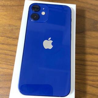 iPhone - 【小キズ有/純正ケース付き】iPhone12miniブルー64G SIMフリー