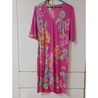 LEONARD - ☆極美品☆ レオナール インポートドレス 貴重サイズ 42
