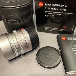 LEICA - 【美品】ズミルックス summilux 50mm F1.4 ASPH. シルバー