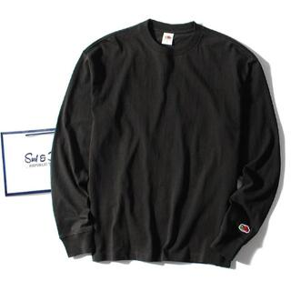ロンハーマン(Ron Herman)のfruit of the loom ロンT ブラックM 長袖Tシャツ(Tシャツ/カットソー(七分/長袖))